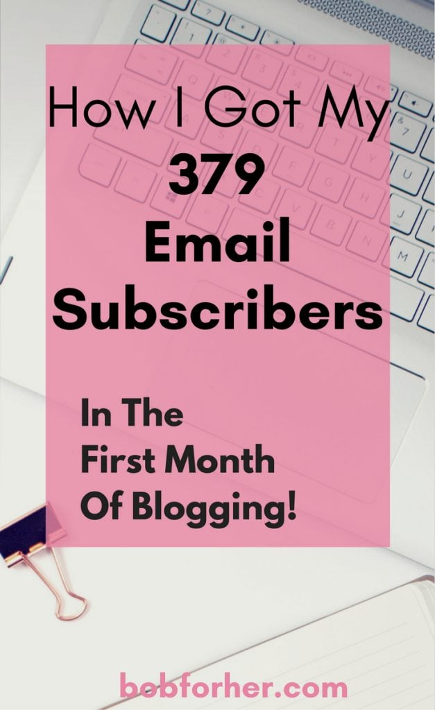 How I Got My 379 Email Subscribers_bobforher.com