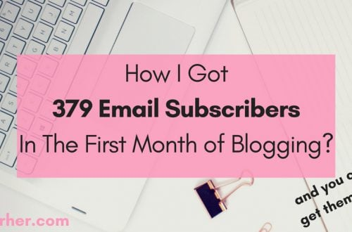 How I Got 379 Email Subscribers in the First Month of Blogging_ bobforher.com_ twitter