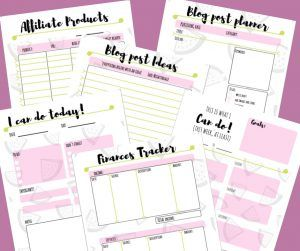 Printables and worksheets for your blog