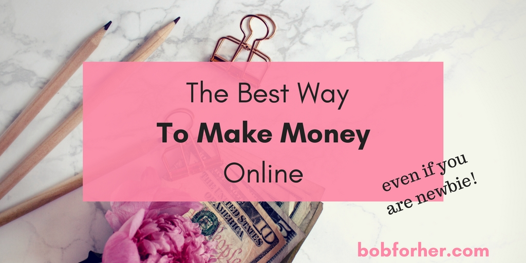 The best way to make money online _ bobforher.com - twitter