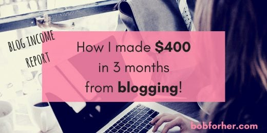 How I made $400 in 3 months from blogging _ bobforher.com - twitter