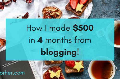 December. How I made $500 in 4 months from blogging!! -twitter