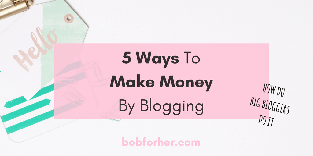 5 Ways To Make Money By Blogging _ bobforher.com_ twitter