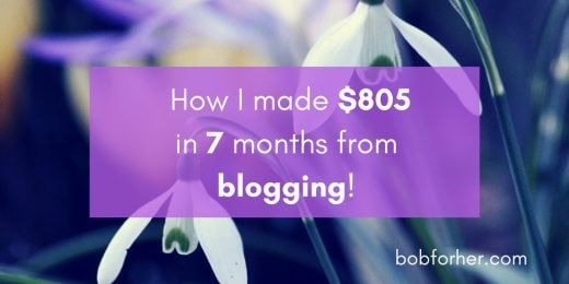 How I made $805 in 7 months from blogging! _ bobforher.com