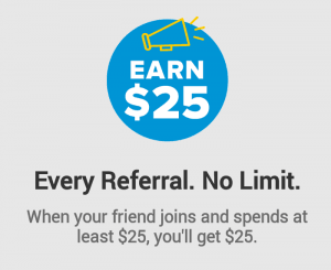 Ebates app get 25$ referral earnings