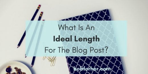 What is an ideal length for the blog post _ bobforher.com_ twitter