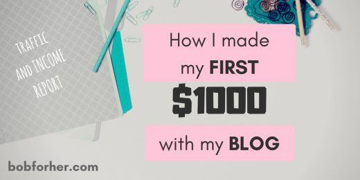 How I made my first $1000 with my blog_ bobforher.com_ twitter