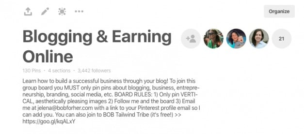 Blogging and Earning Online_ Pinterest group