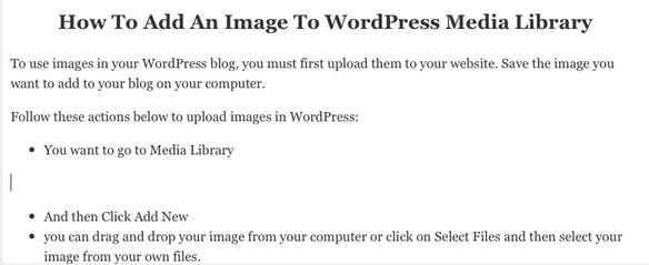 How to add a picture to wordpress