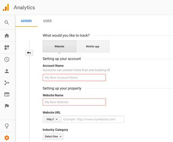 Add your website to Google Analytics