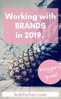 Working with brands in 2019.- bobforher.com