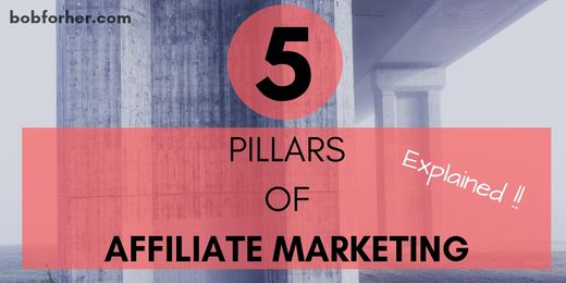 5 PILLARS OF AFFILIATE MARKETING _ bobforher.com - twitter