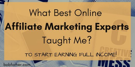 What Best Online Affiliate Marketing Experts Taught Me bobforher.com_ twitter