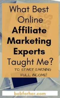 What Best Online Affiliate Marketing Experts Taught Me_ bobforher.com