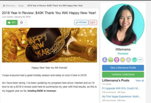 Wealthy Affiliate Success Story- Grace littlemama