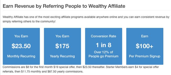 Wealthy Affiliate revenue