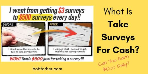 What Is Take Surveys For Cash