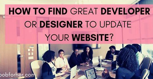 How to find developer or designer to update your website