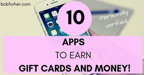 10 TOP Apps To Earn Gift Cards And Money
