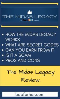 The Midas Legacy secred codes