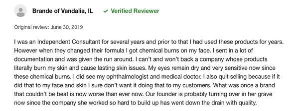 Mary kay consumers complains 2