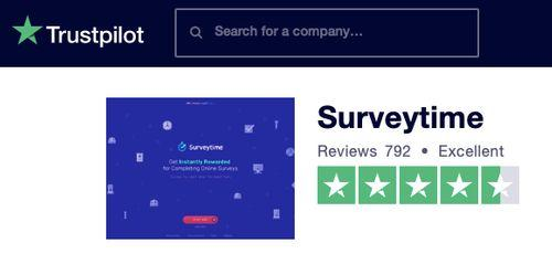 Surveytime Trustpilot reviews