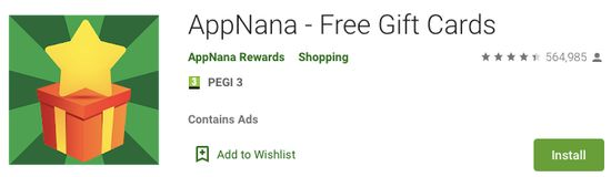 AppNana free gift cards