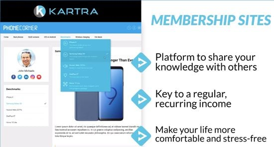 Kartra membership sites